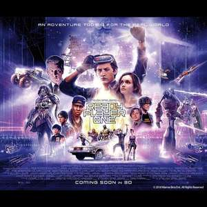 FREE Ready Player One film tickets with free popcorn and bottle of water o2 Priority