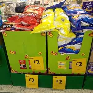 20 Pack Wotsits - Quavers - Walkers Meaty Variety -  £2 each @ Morrisons