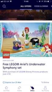 Free Lego Set when you spend £10 on Lego Disney Princess Sets (O2 Priority) @ Lego