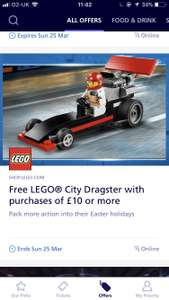 Free Lego City Set when you spend £10 or more (O2 Priority Offer) @ Lego
