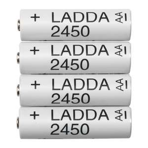 IKEA LADDA AA NI-MH batteries: £5.50 - 50p on your birthday with voucher (Possibly eneloop pros)