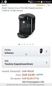 Bosch Tassimo Vivy 2 £29.77 Amazon Germany Prime Exclusive