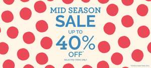 Upto 40% Off Mid-Season Sale + Free C+C @ Cath Kidston (Some with Higher Discounts)