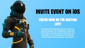 Free Fortnite iOS Sign Up Now Live - Get on the Wait List! - Epic Games