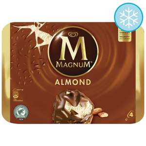 Magnum Almond Ice Cream 4 X100ml £2 from Tomorrow at Tesco