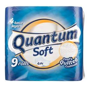 4ply Quantum Quilted Toilet rolls 9pack only £2 @ poundland