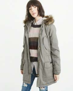 Ladies Abercrombie and Fitch Sherpa lined parka was £200 now £41 delivered.