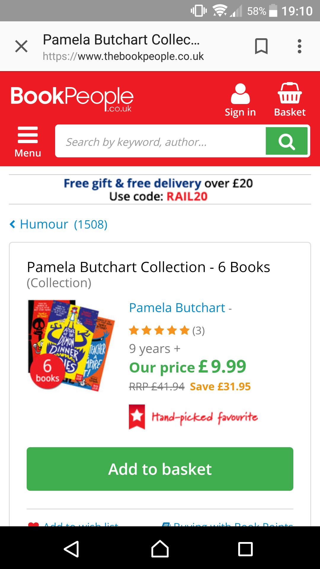 Pamela butchart collection ( ideal for ks2) £12.94 @ bookseller.co.uk