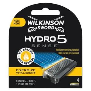 WILKINSON SWORD HYDRO 5 SENSE ENERGIZE MEN'S RAZOR BLADES X4 £11.20