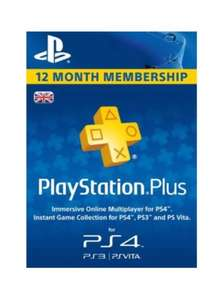 PlayStation Plus 12 Month Subscription (UK) - £37.25 @ElectronicFirst