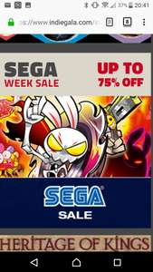 SEGA Week Sale - Up to 75% off @Indiegala