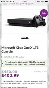 Xbox one x console £402.99 @ District Electricals