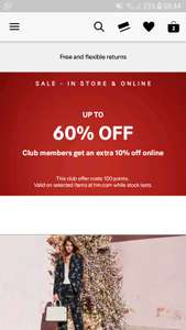 H&m sale - up to 60% off & Club members get an extra 10% off online
