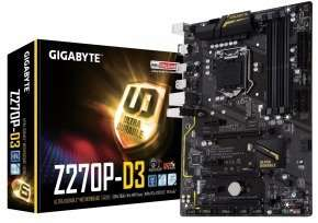Gigabyte Z270P-D3 Intel Socket 1151 Motherboard, £69.99 from Ebuyer