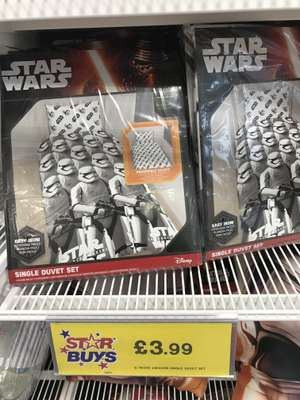 Star Wars single bedding £3.99 instore at Home Bargains (Wolverhampton)