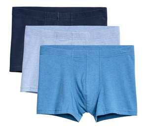 3-pack Dark Blue/Multi Coloured Trunks for £2.62 delivered using H&M Club rewards @ H&M