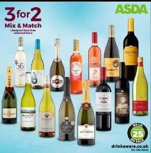 Asda's 3 for 2  wine and champagne deal is a corker! In-store only