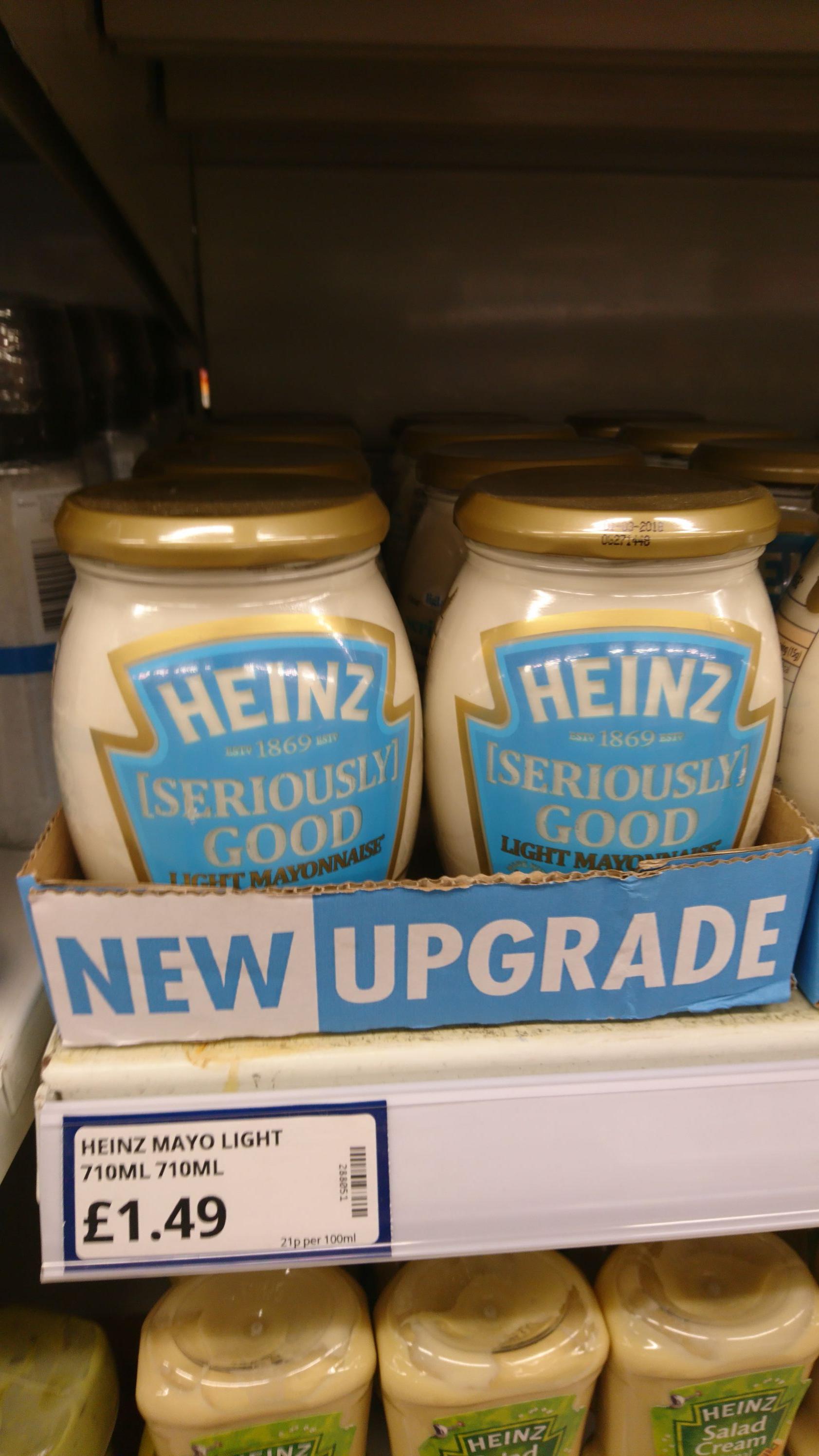 Heinz seriously good mayo 710ml £1.49 @ Poundstretcher