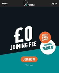 PureGym - £0 Joining Fee