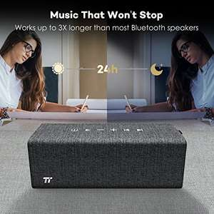 TaoTronics Wireless Bluetooth Speaker With Built in Mic £20.99 Delivered Sold by Sunvalleytek-UK and Fulfilled by Amazon.