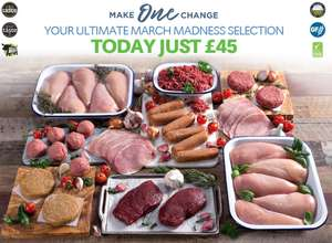 82 pieces of meat for £55 with code @ muscle food plus £3.95 p&p