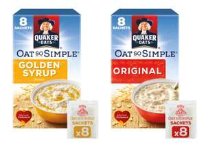 Quaker Oat So Simple Golden Syrup or Original Porridge 8 packs (x36g) for 87p @ Iceland