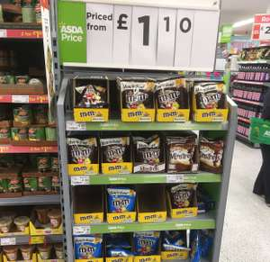 M&M 238g bag range only £1.10 @ selected small Asda stores