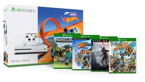 Xbox One S 500GB + 2 Controllers + Forza Horizon 3 (including Hot Wheels) + Minecraft (including Explorers Package) + Sunset Overdrive + Rise of Tomb Raider + Super Lucky's Tale £191.46 @ Microsoft France (Via Nokeys)