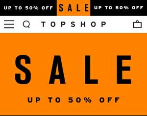 Up to 50% off at TopShop