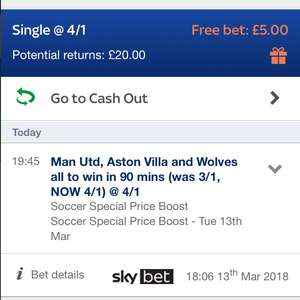 Free £5 bet for sky bet customers