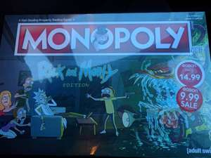 Rick & Morty monopoly £9.99 @ Easons -  Craigavon