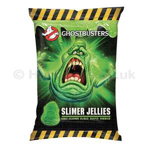 Ghostbusters Slimer jellies 200g 39p or 3for £1@ Fultons gummy centres green sweet lovers!