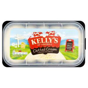 Kelly's Ice Cream 1litre/950 ml was £3.99 now half-price (£2) @ Iceland and Sainsbury