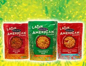 Santa Maria rice packs 59p or 2 for £1 yellow rice Vegetable rice Chilli & lime Rice @ Heron