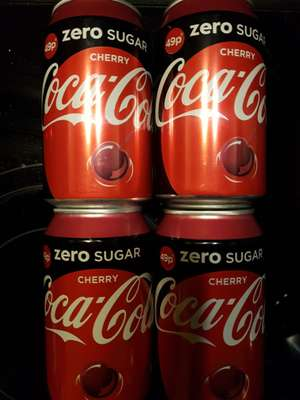 Coca-Cola zero Cherry 4 x 330ml Cans £1 @ Heron
