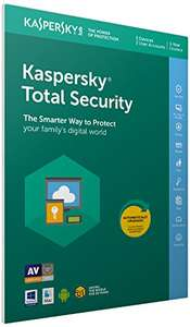 Kaspersky Total Security 2018 - 5 devices, 1 year £16.99 prime / £18.98 non prime @ Amazon