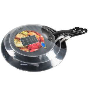 B&M 3 piece frying pan set. - Subject to availability £6.99