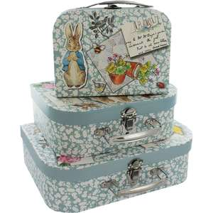 Peter Rabbit Storage Suitcases - Set of 3 - £5.60 or 2 Sets for £10 + MANY MORE CASES ( w/ code VKING20 - possibly works with other set of 3 cases) @ The Works (free C&C)