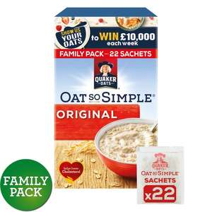 Quaker Oat so simple porridge original 22 x27g £2 @Morrisons