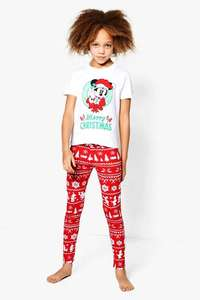 Girls Disney Mickey Christmas Tee & Legging Set £5.00 (was £14.00) @Boohoo.com - Next day delivery for 49p using code 49NDD