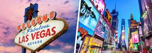 From Manchester: May Bank Holiday 5 Night New York & 4 Night Vegas Holiday - Direct Flights, Luggage, Centrally Rated Hotels & Resort Fee £976.75pp @ Ebookers