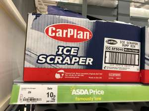 Carplan Ice Scraper only 10p Asda