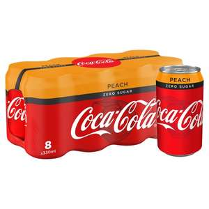 Coke Zero Sugar Peach - 8 can multipack, £2 in store @ Morrisons