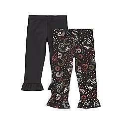 Girls 2 pair pack ruffle hem leggings,1 unicorn + 1 plain, sizes 3-4, 5-6, 6-7 now £4.50 @ tesco .com