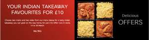 Indian Takeaway for Two - Two Mains + Two sides (plus a third side with Sparks) £10 @ M&S instore from 14th March
