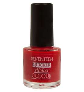 Boots Selected Seventeen Make Up Half Price and 3 for 2 - eg 3 x Nail polish for £1.50