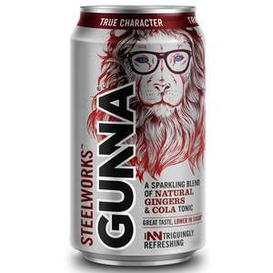 Steelworks gunna ginger cola 19p per can at Poundstretcher