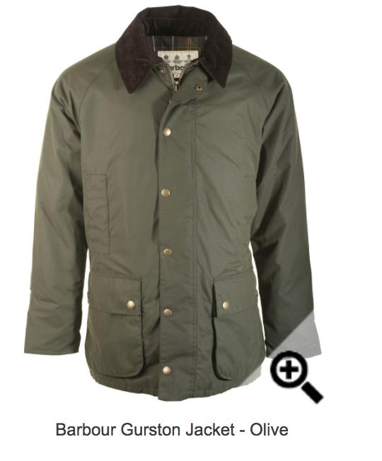 Barbour Gurston Jacket - Olive £89.99 @ John Norris