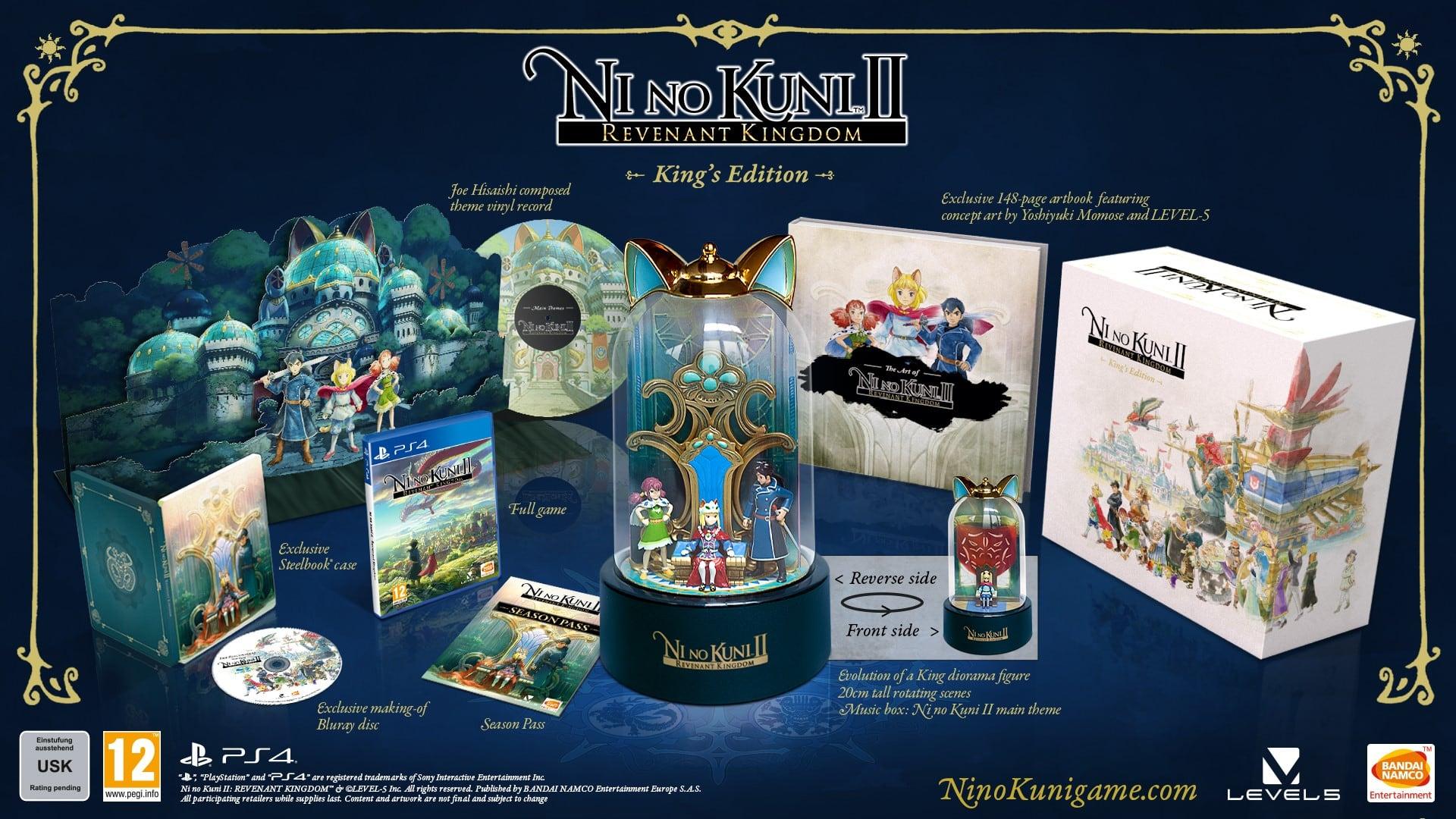Ni No Kuni II: Revenant Kingdom: King's Edition + Special Swords Set DLC (PS4/PC) £119.85 Delivered @ Base
