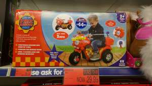 Fire rescue 6v ride on bike with sirens and flashing lights £29.99 instore @ b&m